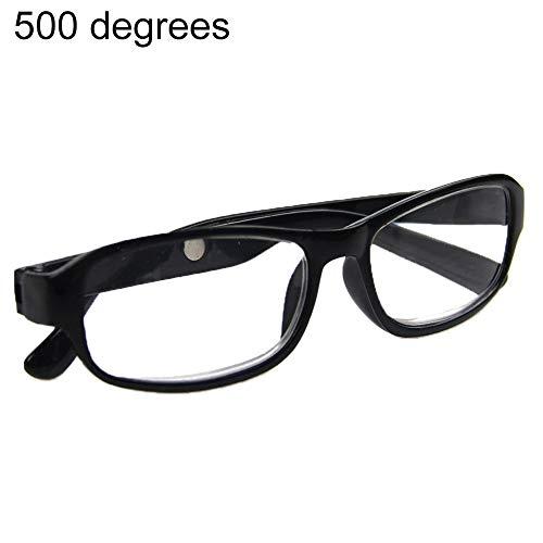 kafiGC8 Lesebrille +4.5 +5.0 +5.5 +6.0 Stärke Optische Brillen, Schwarz, 5.00