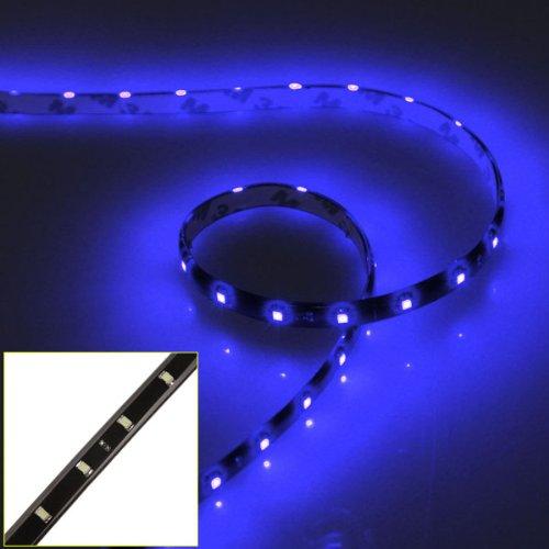 Preisvergleich Produktbild 2 x 60cm 30 SMD LED Strip Streifen Licht Leiste Lichterkette Band Beleuchtung Blau 12V