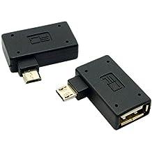 CHENYANG CY 90Degree en ángulo recto micro usb 2,0OTG adaptador de Host con alimentación USB para Galaxy S3S4S5Note2Note3teléfono celular & tableta