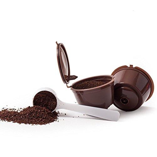 1 KAPSELN FÜR KAFFEE RECARGABLES REUSABLE NACHFÜLLBARE DOLCE GUSTO + Kaffeelöffel