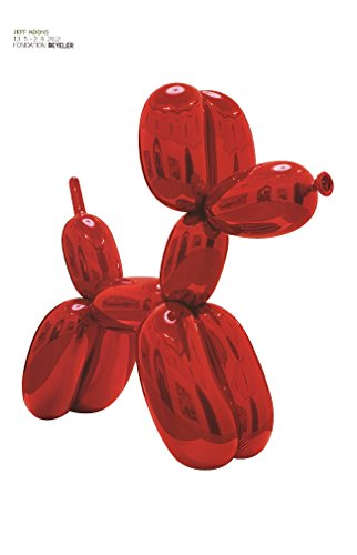 Jeff Koons - Palloncino a forma di cane, colore: rosso