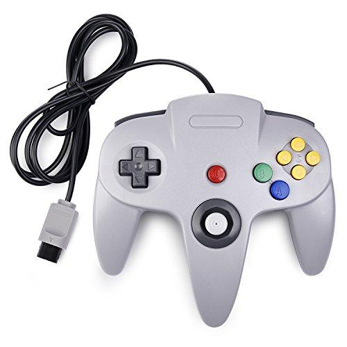 iNNEXT Retro Wired Controllers für N64 Nintendo 64, Classic Controller Joystick für Nintendo 64 Konsole N64 Game System, Grau Nintendo 64 Spiel-konsole