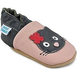 Zapatos Bebe Niña - Zapatillas Niña - Patucos Primeros Pasos - Gato Negro 18-24 Meses
