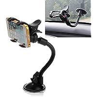 VGHFTB ziqiao um 360 ° drehbar Auto Windschutzscheibe Windschutzscheibenhalterung Halterung Dual-Clip für Telefon GPS