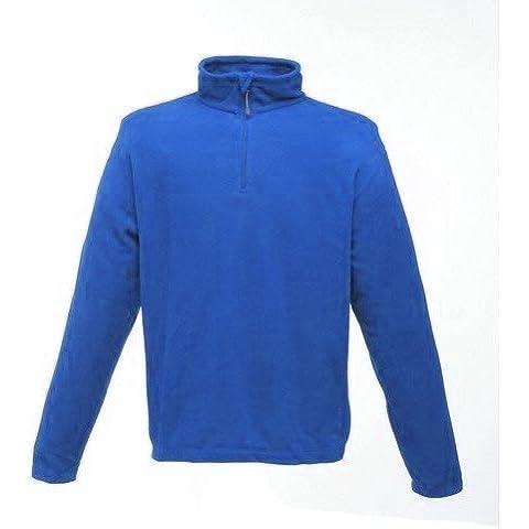 Regatta para hombre Micro forro polar cremallera cuello Top, azul, Micro Zip Neck