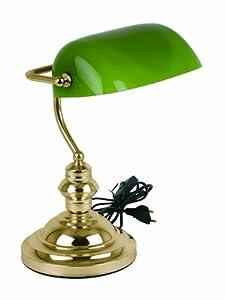 Spetebo - Lampada da tavolo, vintage, da banchiere, colore: Nero da Spetebo