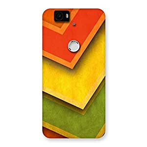 Delighted Multicolor Merge Back Case Cover for Google Nexus-6P