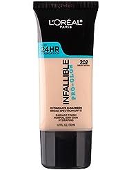 L'Oréal Paris Infallible Pro Glow Longwear Foundation, 202 Creamy Natural 30 ml (Amazon Exclusive)