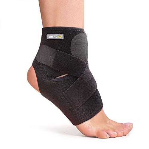 Preisvergleich Produktbild BRACOO Fußbandage – Sprunggelenkbandage – Knöchelschutz – Fußgelenkbandage / Fußgelenkstütze mit Klettverschluss / FS10 / S / M