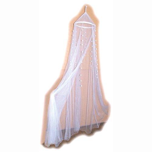 Preisvergleich Produktbild Bieco Principessa Bett-Himmel und Moskitonetz in Weiss, waschbar, 230cm-Hoch
