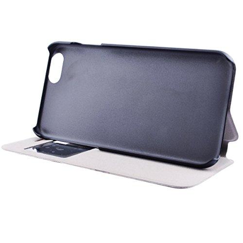 """MOONCASE pour iPhone 6S Plus (5.5"""") Case Cuir Coque en Housse de Case Protection Étui à rabat Cover Mi07 Mi07 #1130"""