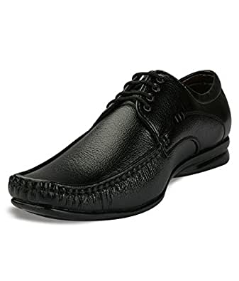 Man's Way Lightweight Black Formal Shoes