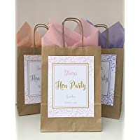 PERSONALISED HEN PARTY HEN NIGHT FAVOUR GIFT BAG BROWN CONFETTI