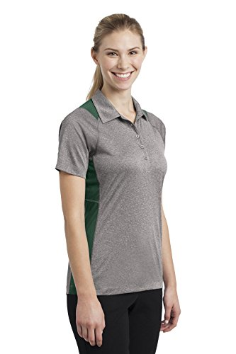 Sport-Tek-Secondo le donne s-Polo da uomo, Colorblock Contender Vnt He/For Grn