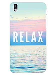 HTC Desire 816 Back Cover - Relax - Typography - Designer Printed Hard Shell Case