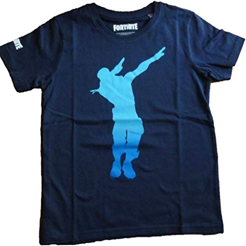 Camiseta para ni/ños Fortnite Official Royale Color Azul algod/ón