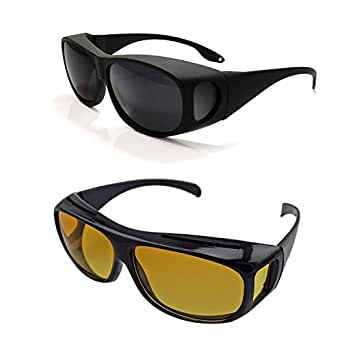 Uspech Unisex Uv Protected Googles For Night And Day 2 Pieces (Gl_Uv_Protection_Sunglass-Mfn)