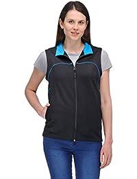 Scott Women's Premium Rich Cotton Sleeveless Jacket - Black