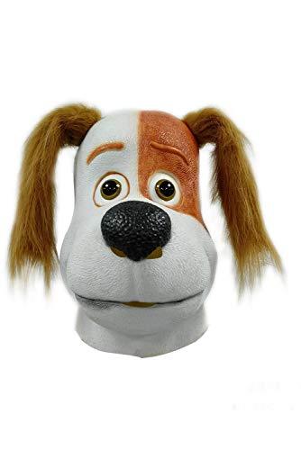 Dog Max Kostüm - RedJade Geheimes Leben der Pets Haustiere Max Dog Latex Maske Spielzeuge Neuheit Animal Head Cosplay Kostüm