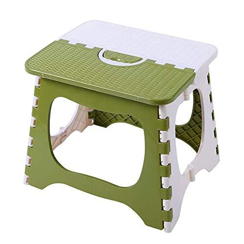 WYX Klapphocker, Indoor und Outdoor Kunststoff Klapphocker, Verdickung Kinderstuhl Tragbare tragbare kleine Bank Mazar,M:26×20×20cm