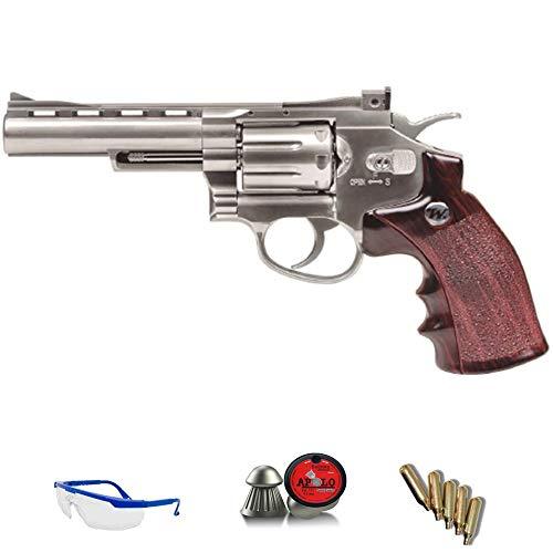 WINCHESTER .45 Revólver Special | Pack Pistola de Aire comprimido (CO2) Y balines de Plomo (perdigones) Cal. 4.5mm. Réplica Full Metal