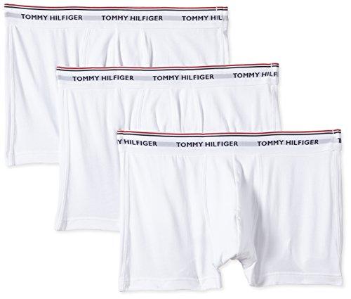 Tommy Hilfiger Herren Shorts 3p Trunk, 3er Pack, Weiß (White 100), XL / 54