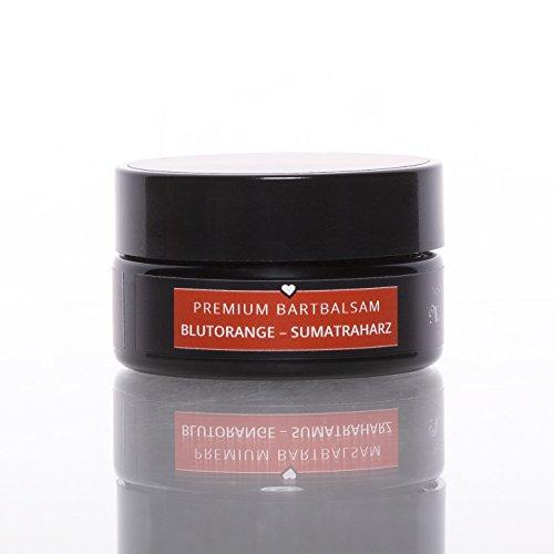 blackbeards Premium Bartbalsam Blutorange-Sumatraharz – Rauchig und warmer Duft – Handgefertigt – Pflegt deinen Bart mit hochwertigen Inhaltsstoffen – Mit Sheabutter – 50ml