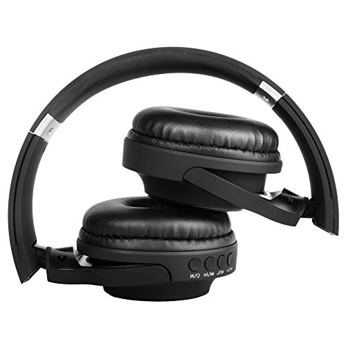 RICHVOLT Wireless Bluetooth Over Ear Stereo Foldable Noise Cancelling Headphones,Wireless and Wired Mode Headsets with Soft Protein Earmuffs,SD/TF Card Slot, Built-in Mic for Mobile Phone PC Laptop Image 6