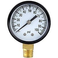 pligh (TM) 0–100PSI Mini Dial Manometro dell' aria Piezometro Scala Singola vuoto Manometro Strumenti di misurazione