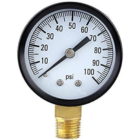 ozuzu (TM) 0–100PSI Mini Dial Manometro dell' aria Piezometro Scala Singola vuoto Manometro Strumenti di misurazione