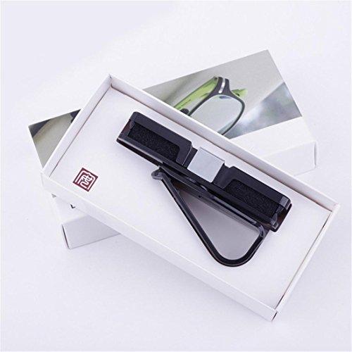 Auto Visor Sonnenbrillen Halter, Auto SUV Brillen Card Clip Mount, Fahrzeug Praktische Zubehör , White