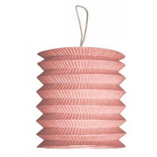 Au plaisr des yeux - Lampion cylindrique 15 cm en papier ignifugé rose décoration mariage