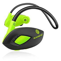 BlueVIBE AGL Bluetooth Sport Neckband Headphones by Gogroove for Sports Training with Wireless Playback Controls , Onboard Mic , and Flexible Neckband - Works with LG G3 , iPhone 5S , Sony Xperia Z2 , OnePlus One and more!