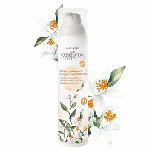 MATERNATURA - Curling-Creme mit Orangenblüten - Intensiviert natürliche Curls und Curls Welliges Haar - Ohne Abspülen - Modellieren, Fixieren, Anti-Frizz - AIAB und Vegan zertifiziert - 100 ml -