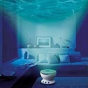 JinRou character design notte Led proiettore di luce Luce di proiezione delle forme d'onda delle onde del mare fino a Aurora Sky con funzione audio