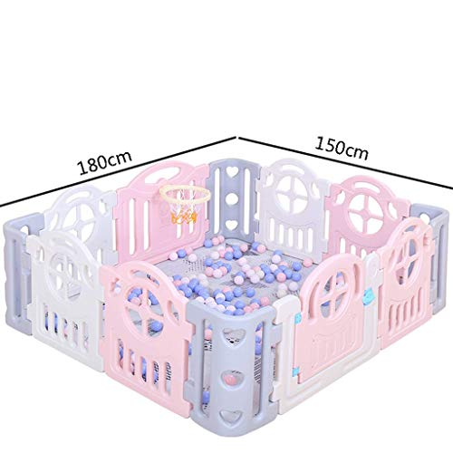 Children's Game Enclosure Assembly Indoor Environmental Protection Fence - 2 Sizes (Size : 180×200cm)  FYONG