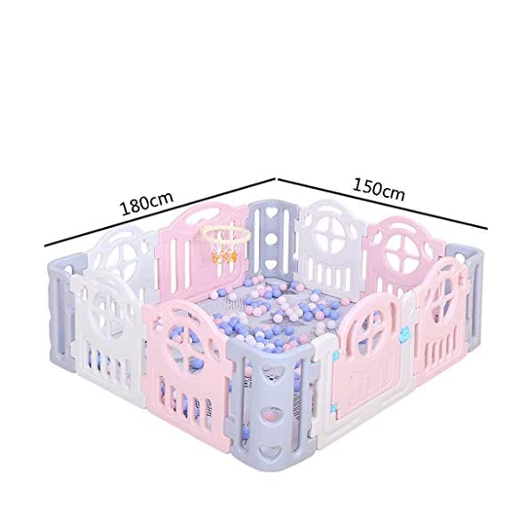 Children's Game Enclosure Assembly Indoor Environmental Protection Fence - 2 Sizes (Size : 180×200cm) FYONG External door opening: the door opening is designed on the outside of the enclosure to prevent the baby from opening the gate of the enclosure himself, and the mother is more comfortable Size: 150 x 180cm, 180 x 200cm, two sizes available A mother's lifesaver: keep the baby safe in the play center when mom/dad needs to cook, clean, go to the bathroom, etc 2
