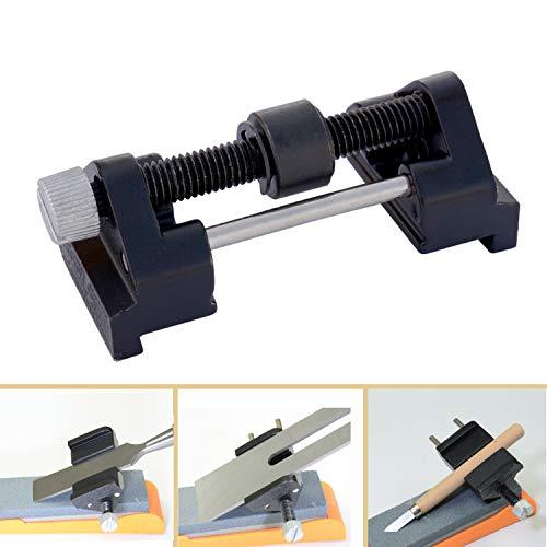 Guide d'affûtage, ACCOCO en acier inoxydable côté de serrage fixe Angle Guide d'affûtage pour ciseaux à bois Lame de rabot Burin Burin plat Edge d'affûtage de serrage Largeur Gamme 0,6 - 7.5 cm