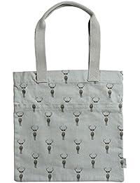 Sophie Allport bolsa de libro–Highland diseño de ciervo