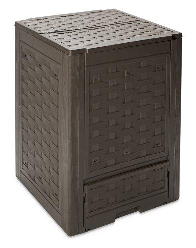 toomax z650r035 contenitore composter, rattan line, 60x60x83, marrone