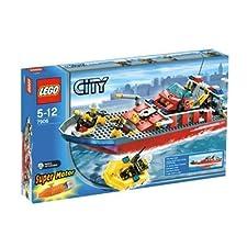 lego 7906 city jeu de construction le bateau des pompiers - Lego City Bateau