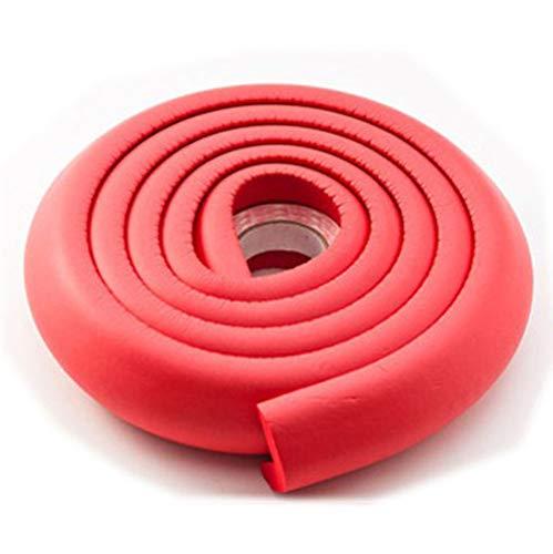 JMAHM 2 Sätze Eckenschutz und Kantenschutz Tischkantenschutz Stoßstangen Sätze Schaum Ecke Bett Schrank Gummi, Schützen Kind vor Verletzungen (Rot) (Rot-bett-satz)