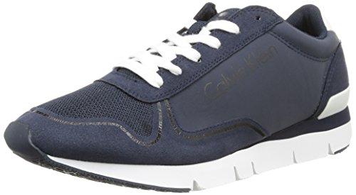 Calvin Klein Jude Reflex Nylon/Microfiber, Sneaker basse uomo Blu (Blue (Navy/Navy))