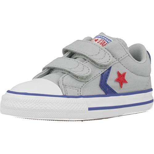 Converse Star Player 2V Canvas OX Sneaker Kind Grau - 24 - Sneaker Low - Converse Jungen Schuhe