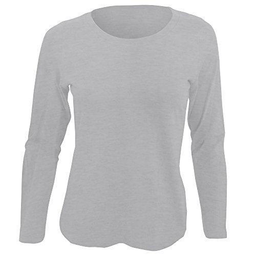 SOLS Womens/Ladies Majestic Long Sleeve T-Shirt (XXL) (Grey Marl)  available at amazon for Rs.1206