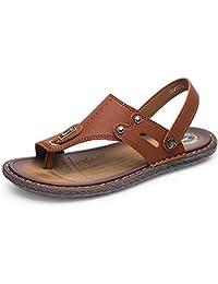 6ab80040fd4 Newbestyle été Tongs Homme Cuir Souple Plat Flip Flop Sandale Chaussures ...