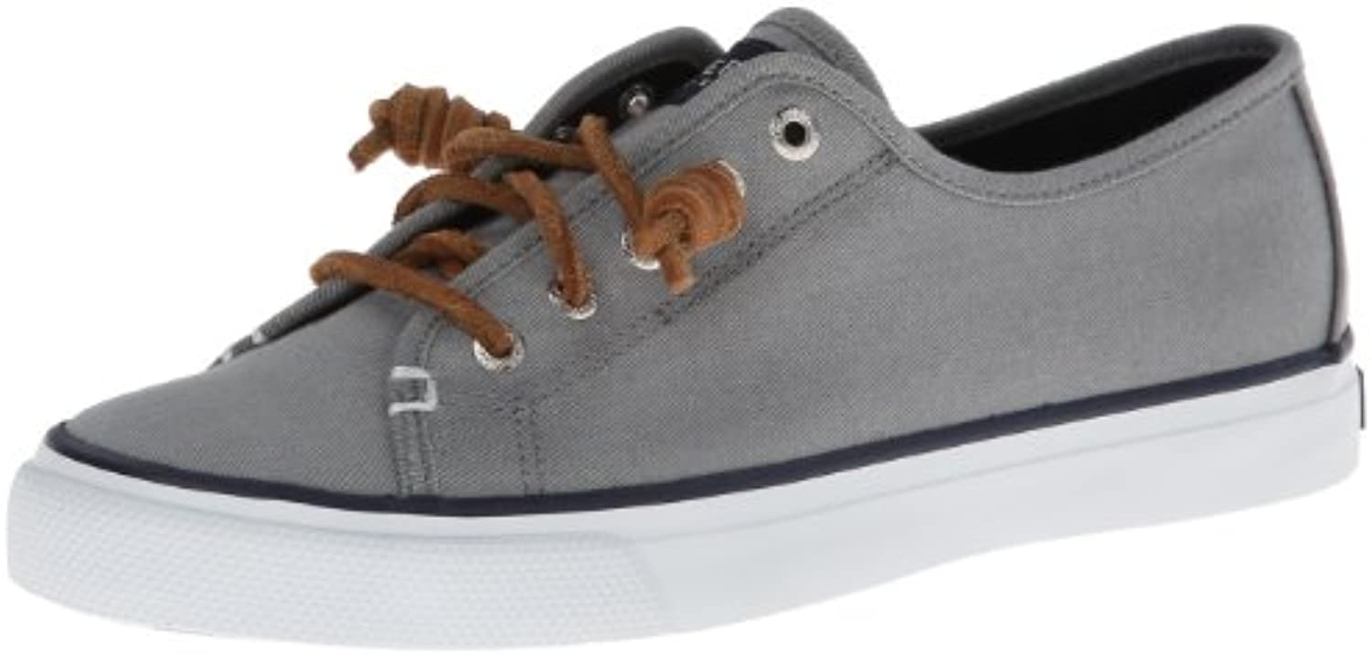 Sperry Top-Sider Women's Seacoast Fashion Sneaker, Grey, 8 M US