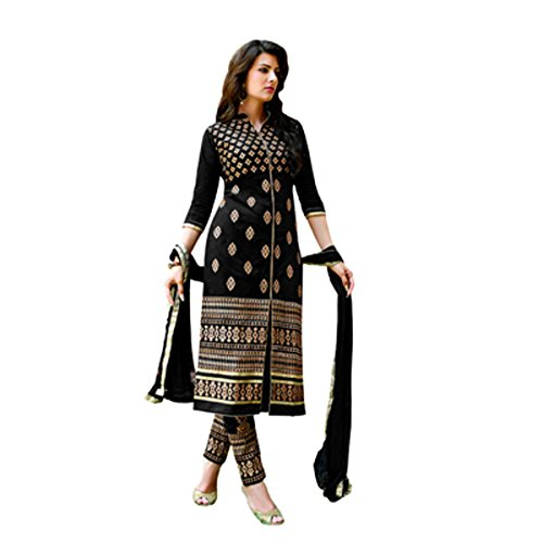 Leriya Fashion Women's Anarkali Salwar Suit Green Semi Stitched Salwar Suit with Dupatta Women's Georgette Embroidered Semi-stitched Salwar Suit  available at amazon for Rs.499
