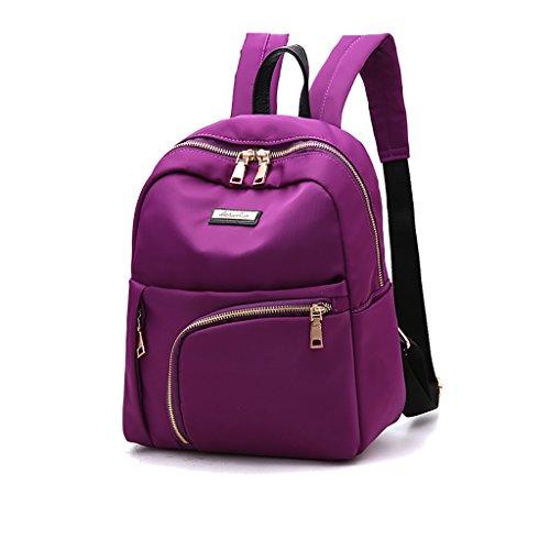 CLOTHES- Borsa a tracolla femminile Zaino borsa Oxford Nylon Casual Wild Fashion Casual ( Colore : Blu zaffiro ) Viola