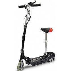 vidaXL Elektroroller Elektro Scooter E-Roller mit Sitz 120 W klappbar Schwarz